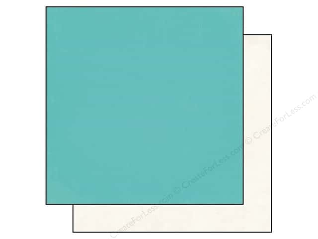 Echo Park 12 x 12 in. Paper Simple Life Collection Teal/Cream (25 sheets)