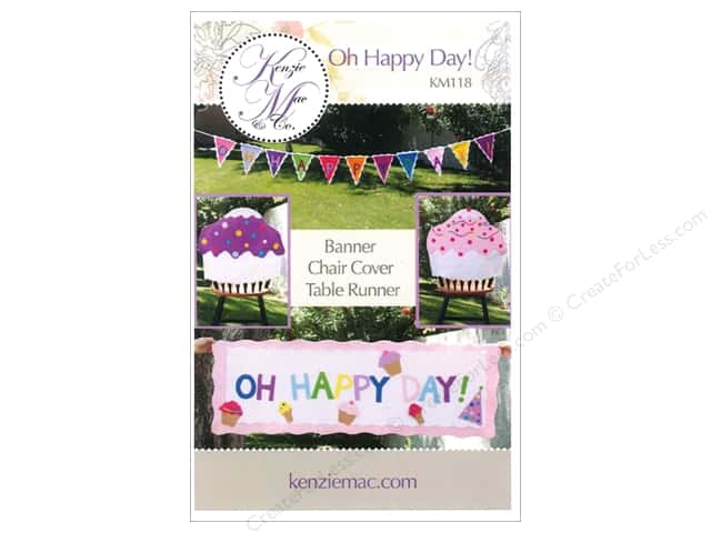 Kenzie Mac & Co Oh Happy Day! Banner & Table Runner Pattern