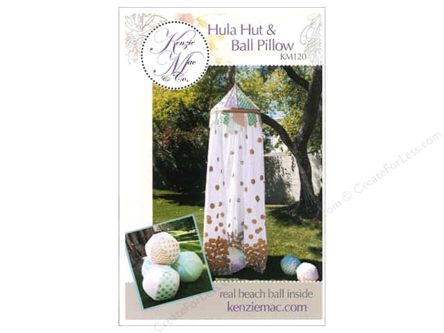 Kenzie Mac & Co Hula Hut & Ball Pillow Pattern