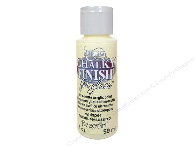 Decoart Americana Chalky Finish for Glass Paint 2 oz. Whisper