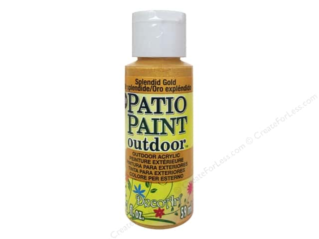 decoart patio paint 2 oz splendid gold createforless
