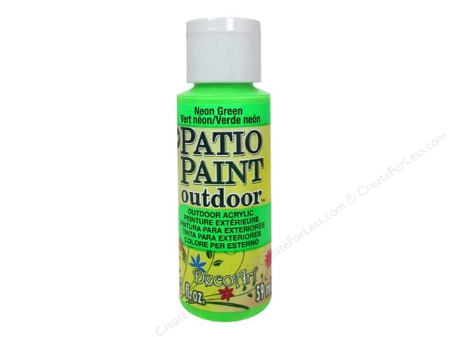 DecoArt Patio Paint Outdoor Acrylic Paint 2 oz. #86 Neon Green