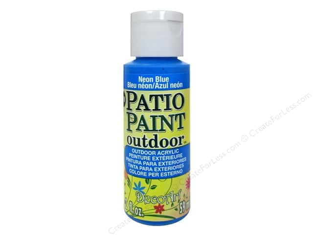 DecoArt Patio Paint Outdoor Acrylic Paint 2 oz. #87 Neon Blue