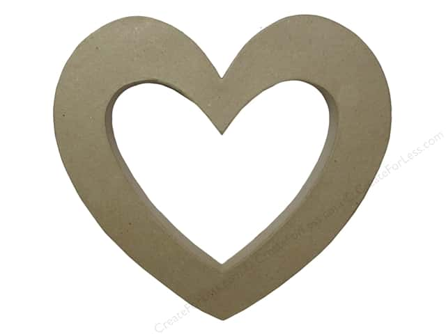 Paper Mache 3D Open Heart by Craft Pedlars