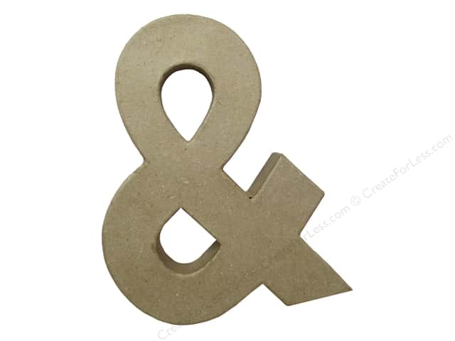 Paper Mache Ampersand 9 in. by Craft Pedlars