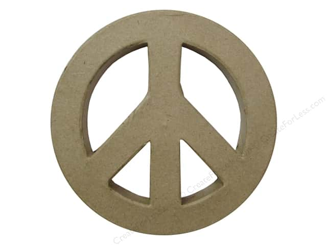 PA Paper Mache Peace Sign 5 1/2 in.