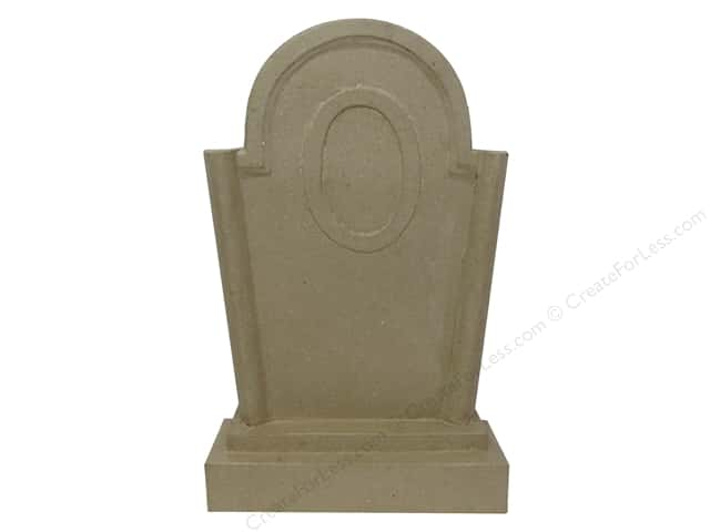Paper Mache Tombstone 13 1/2 in. by Craft Pedlars