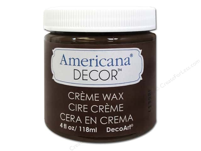 DecoArt Americana Decor Creme Wax 4 oz. Deep Brown