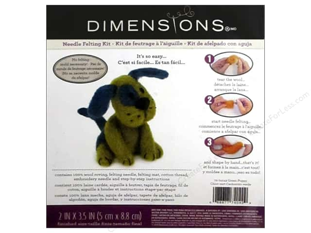Dimensions Needle Felting Kit Puppy Green