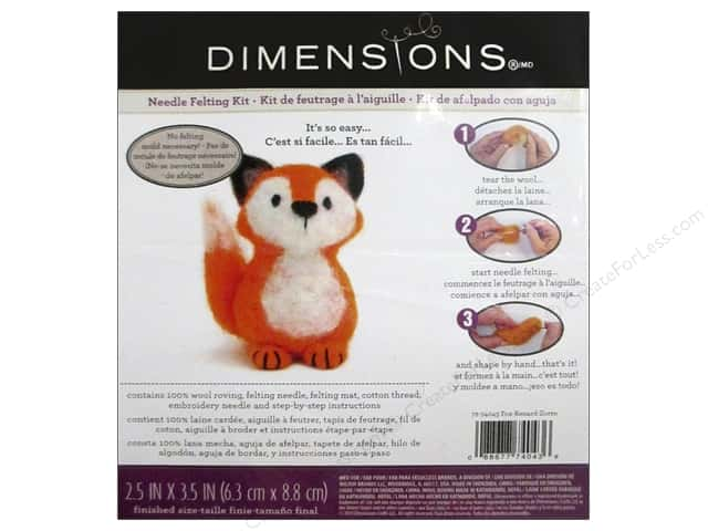 Dimensions Needle Felting Kit Fox