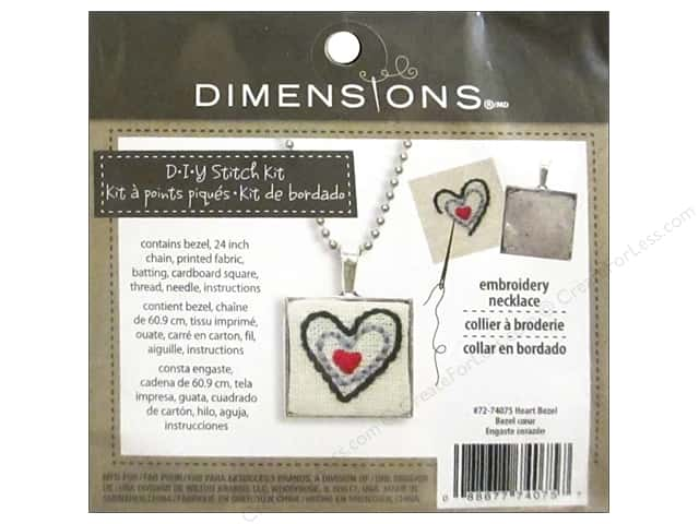 Dimensions Cross Stitch Kit Heart Bezel Silver