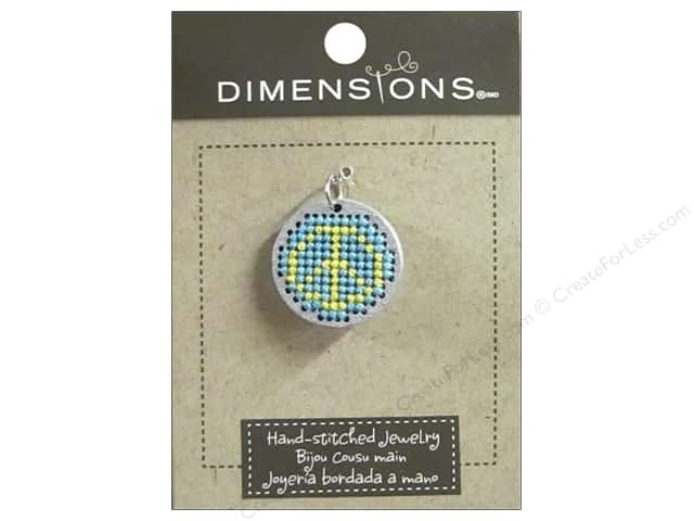 Dimensions Jewelry Hand Stitched Small Circle Peace Silver