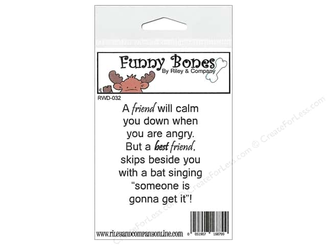 Riley & Company Cling Stamps Funny Bones A Friend Will Calm