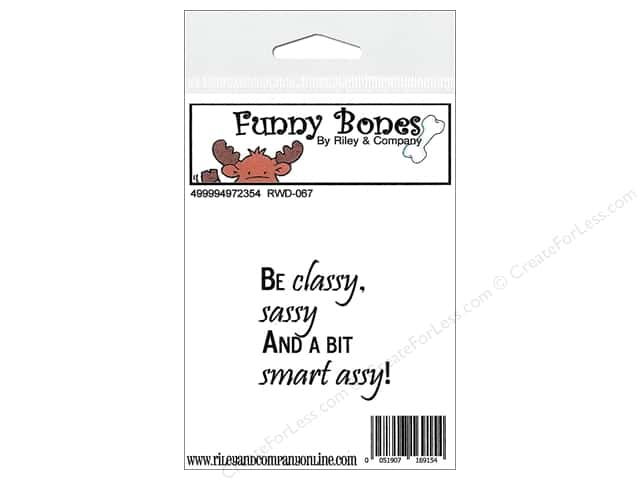 Riley & Company Cling Stamps Funny Bones Be Classy
