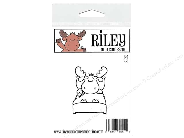 Riley & Company Cling Stamps Sick