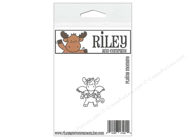 Riley & Company Cling Stamps Flying Monkey