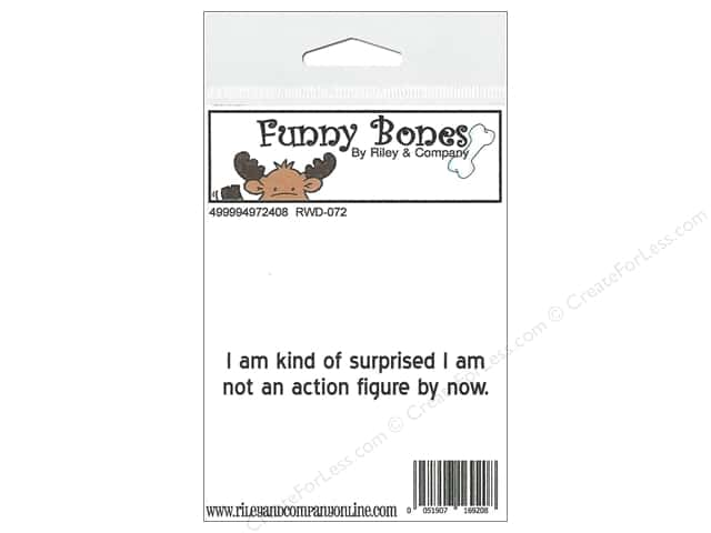 Riley & Company Cling Stamps Funny Bones Action Figure