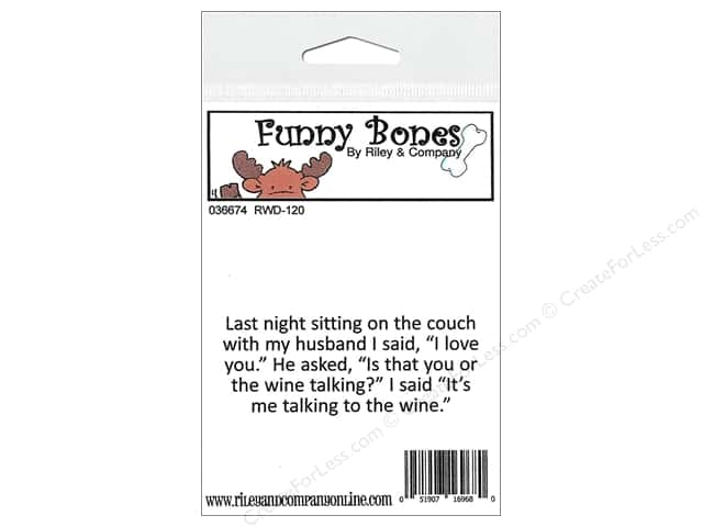 Riley & Company Cling Stamps Funny Bones Sitting On The