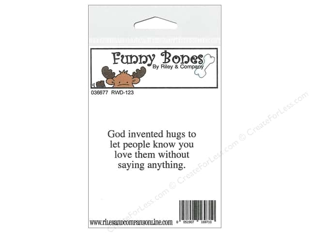 Riley & Company Cling Stamps Funny Bones God Invented Hugs