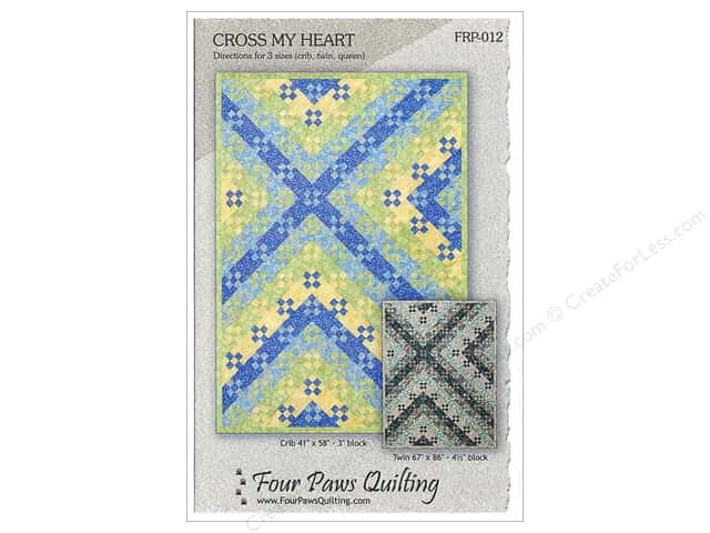 Four Paws Quilting Cross My Heart Pattern