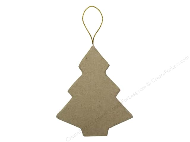 Paper Mache Flat Tree Ornament by Craft Pedlars