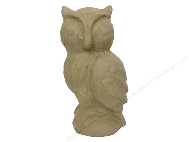 Paper Mache Standing Owl 9 1/2 in. by Craft Pedlars