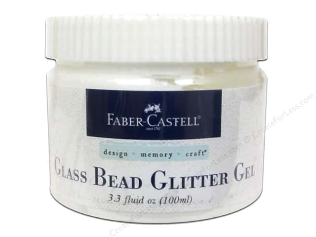 FaberCastell Prep & Finish Glass Bead Glitter Gel Jar 3.3oz