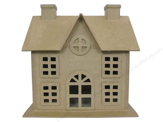 PA Paper Mache Christmas House 9 in.