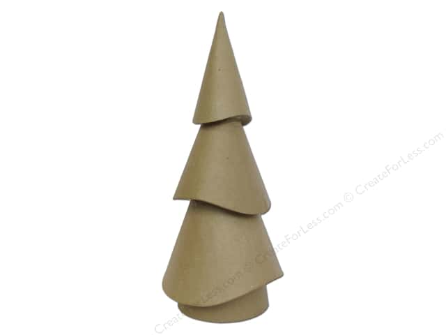 Paper Mache Small Tree Wavy Cone 14 1/2 in. by Craft Pedlars