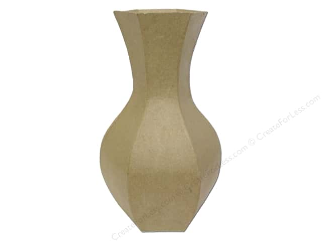 Paper Mache Vase 10 in. by Craft Pedlars