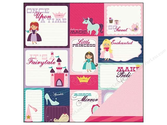 Imaginisce Paper 12x12 Little Princess Once Upon A Time (25 sheets)