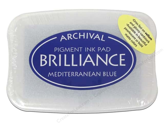 Tsukineko Brilliance Large Craft Stamp Pad Mediterranean Blue