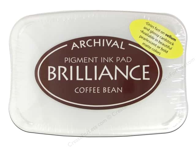 Tsukineko Brilliance Large Stamp Pad Coffee Bean