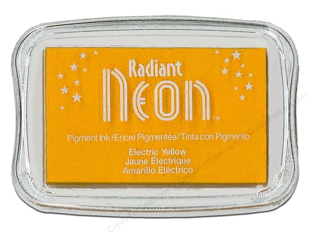 Tsukineko Radiant Neon Pigment Ink Pad Large Electric Yellow