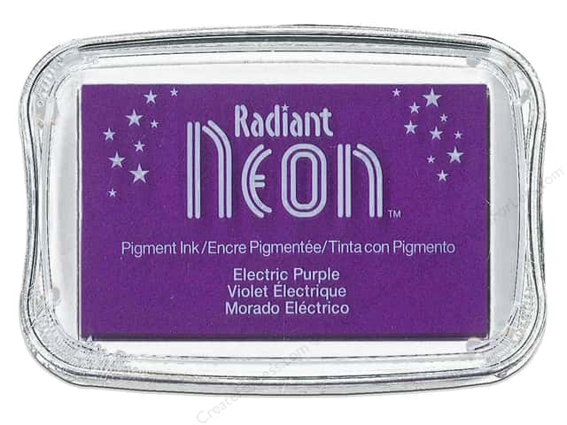 Tsukineko Radiant Neon Pigment Ink Pad Large Electric Purple