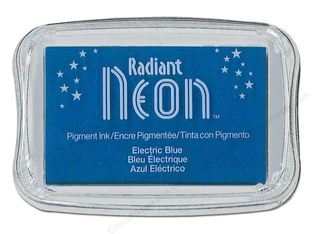 Tsukineko Radiant Neon Pigment Ink Pad Large Electric Blue