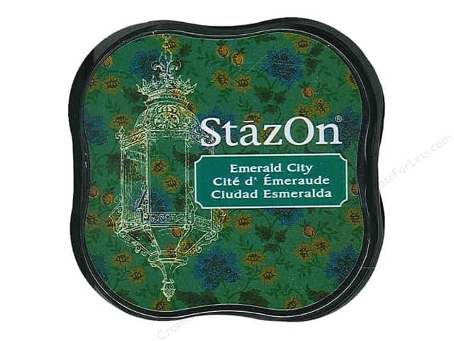 Tsukineko StazOn Midi Solvent Ink Stamp Pad Emerald City