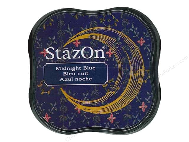 Tsukineko StazOn Midi Solvent Ink Stamp Pad Midnight Blue