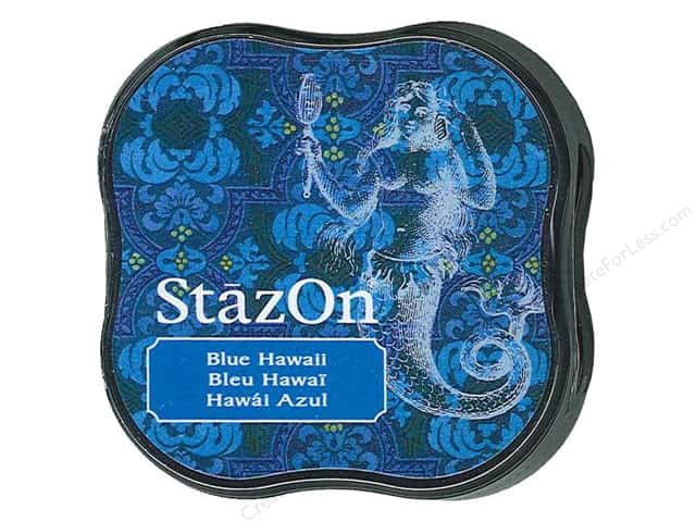 Tsukineko StazOn Midi Solvent Ink Stamp Pad Blue Hawaii