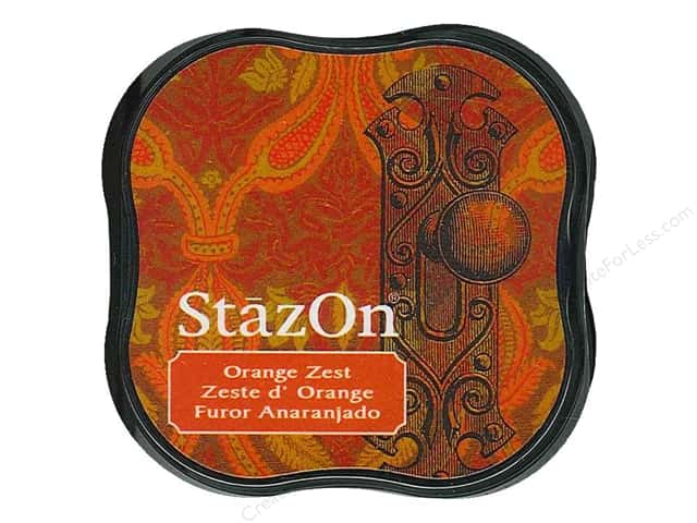 Tsukineko StazOn Midi Solvent Ink Stamp Pad Orange Zest