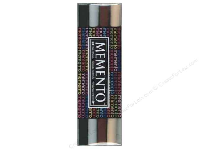 Tsukineko Memento Ink Marker Set Of 4 Stone Mountain