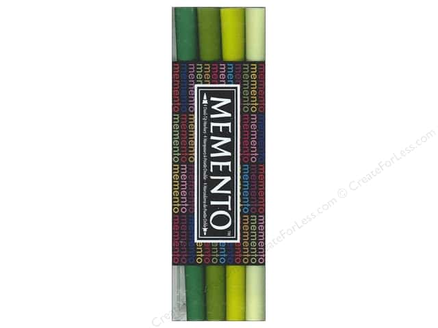 Tsukineko Memento Ink Marker Set Of 4 Greenhouse