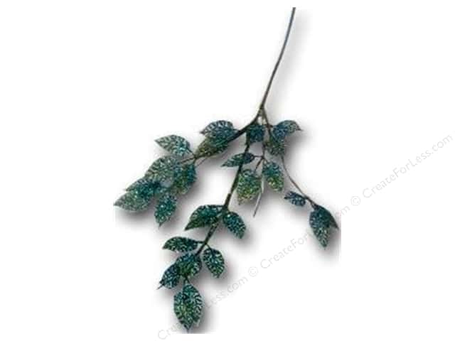 Sierra Pacific Crafts Decor Spray Leaves Glittered Green/Blue