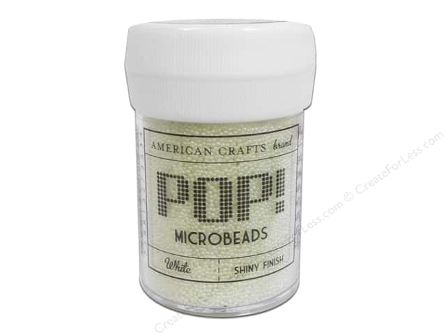 American Crafts Pop! Microbeads 1 oz. White