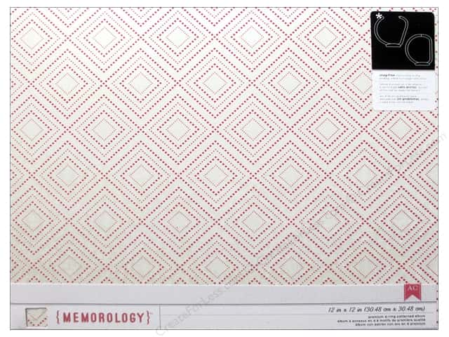 American Crafts 12 x 12 in. 3-Ring Album Crate Paper Oh Darling Cream & Pink