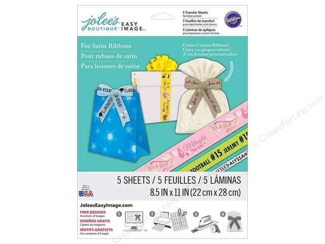 Jolee's Boutique Easy Image Transfer Sheets for Satin Ribbons