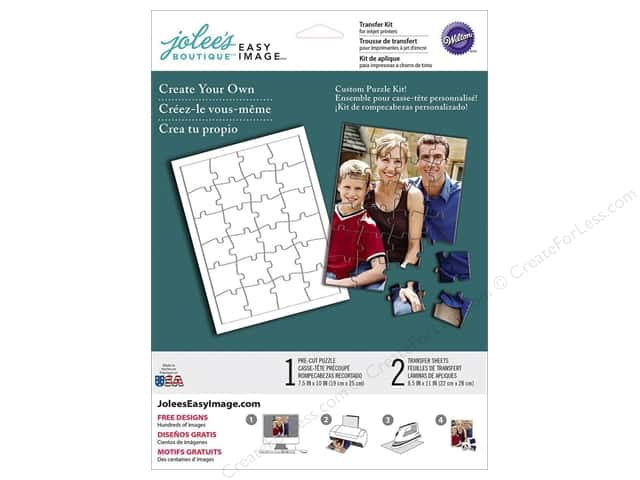 Jolee's Boutique Easy Image Transfer Sheets Puzzle Kit