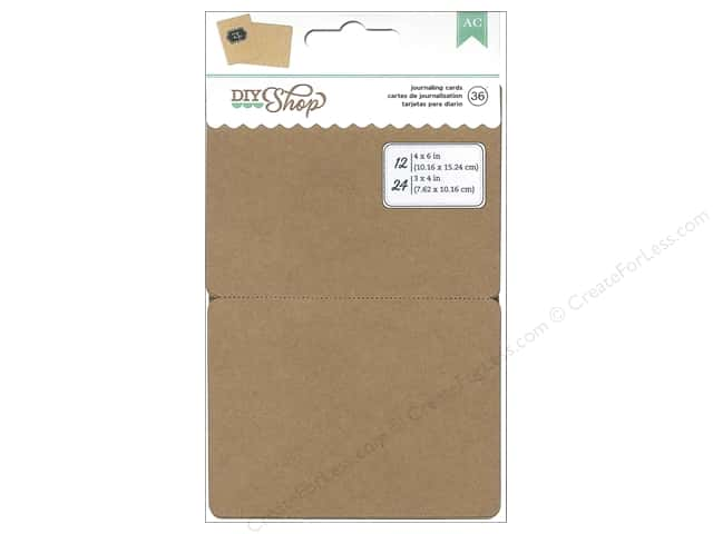 American Crafts DIY Shop Journaling Cards Kraft