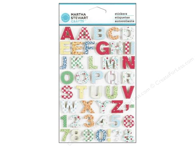 Martha Stewart Sticker Stitched Fabric Alpha