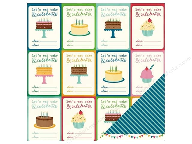 Pebbles 12 x 12 in. Paper Birthday Wishes You're Invited (25 sheets)